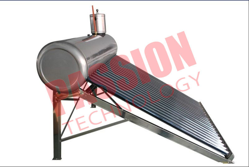 Stainless Steel Pre Heated Solar Water Heater Portable Galvanized Steel Frame