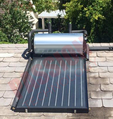 Laser Welding Copper Tube Flat Plate Solar Collector For Hotel Heating Solar Geysers